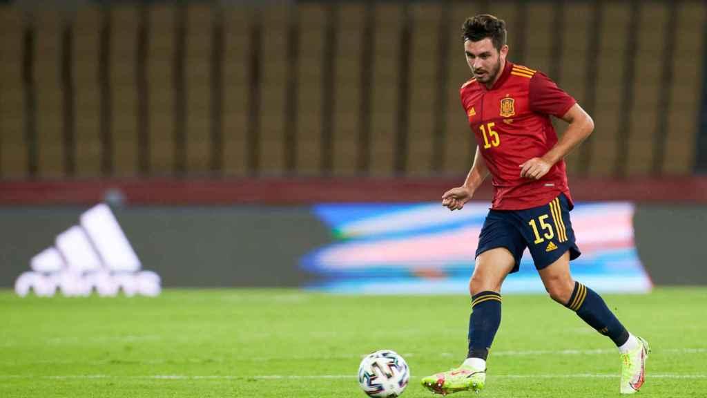 Víctor Chust, con la selección española sub21