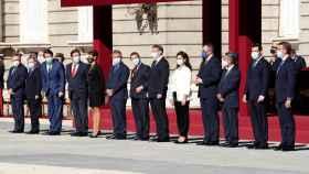 Presidentes autonómicos durante el acto militar por los actos del 12 de octubre de 2020