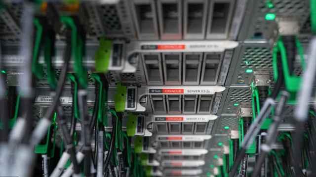 Primer plano de unos servidores de Oracle, como los que se instalarán en el centro de datos que abrirá la compañía en España.
