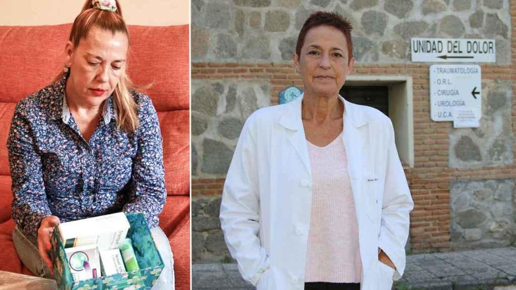 Hortensia (izda) se curó de su adicción a los opioides gracias a Ana Isabel Henche.