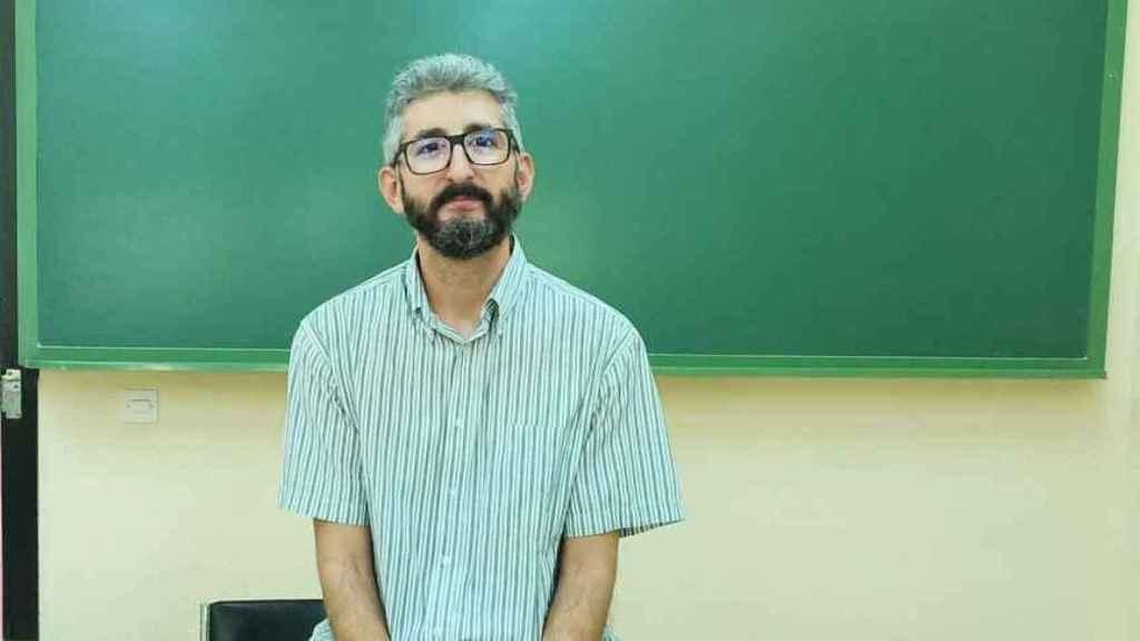 Borja Delgado, profesor de Biología y Geología del IES África, en Fuenlabrada, Madrid