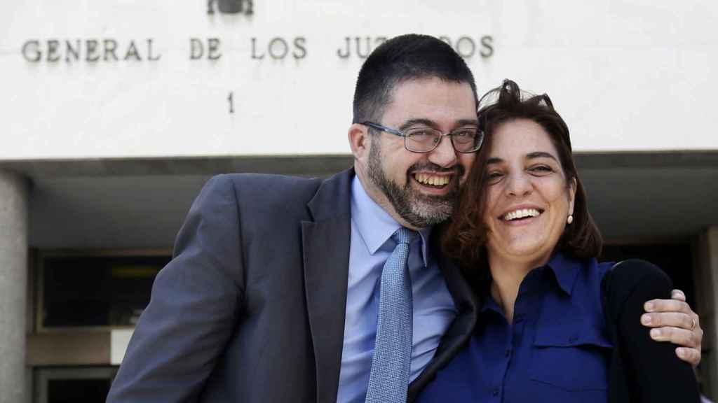 Sánchez Mato y Celia Mayer. Efe
