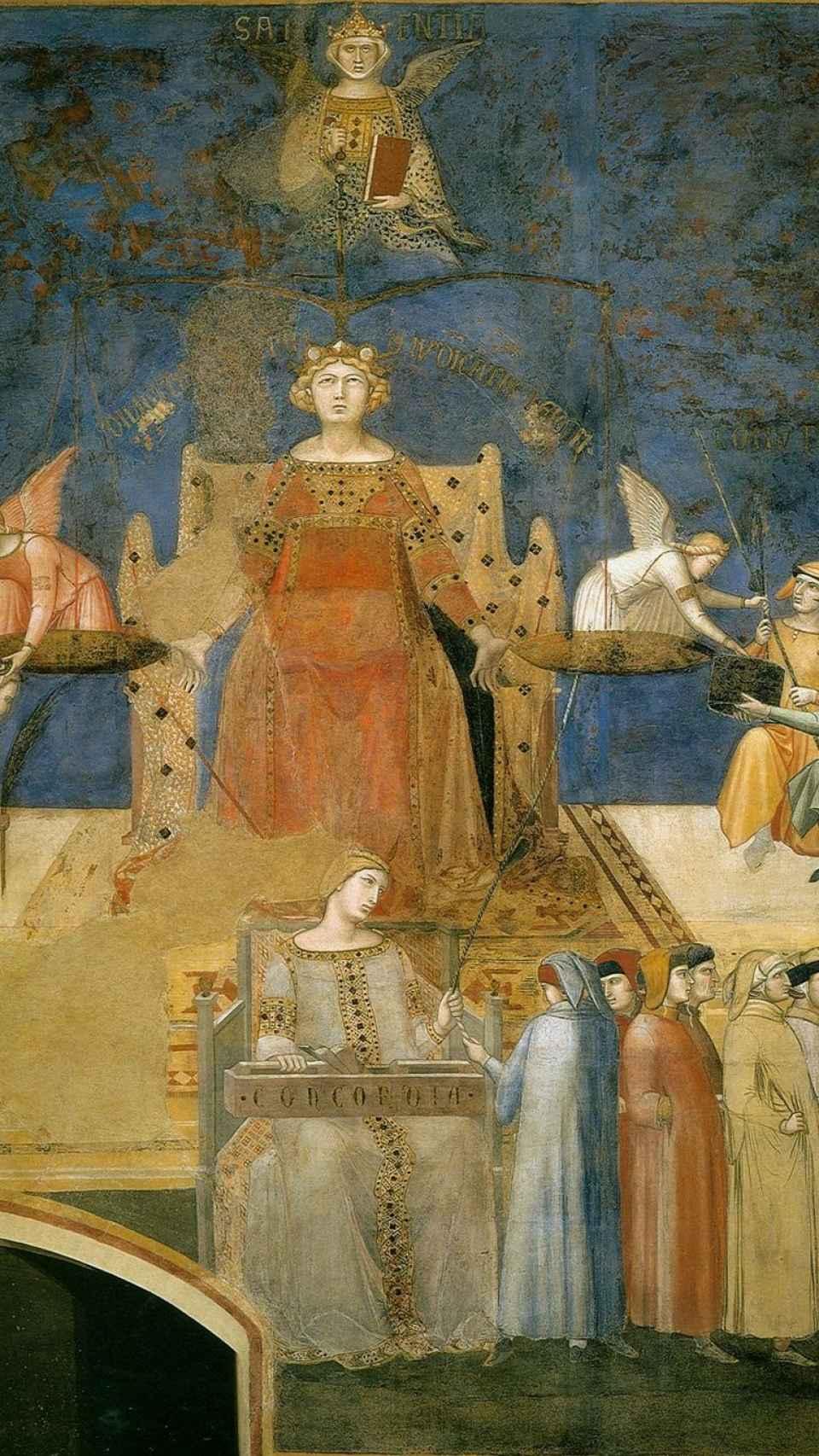 Alegoría sobre el buen gobierno, de Ambrogio Lorenzetti.