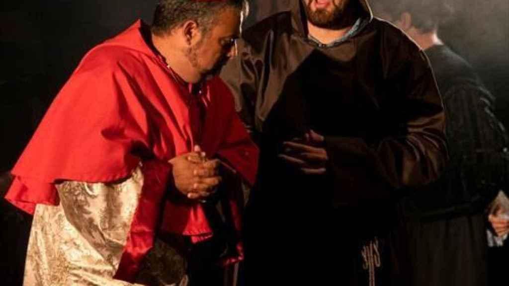 Un momento de la representación de la ópera 'Comuneros'