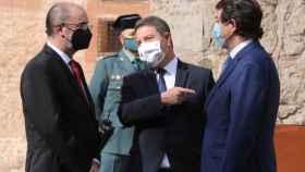 Lambán, Page y Mañueco en un encuentro en Albarracín