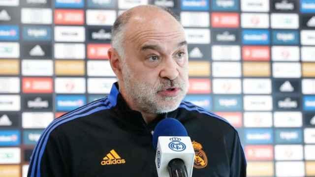 Pablo Laso, durante una rueda de prensa