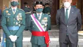 Javier López Martín, presidente de Eurocaja Rural, junto al general Jefe de la Guardia Civil en CLM, Francisco Javier Cortés, y el coronel Jefe de la Comandancia de la Guardia Civil de Toledo, Francisco Javier Vélez