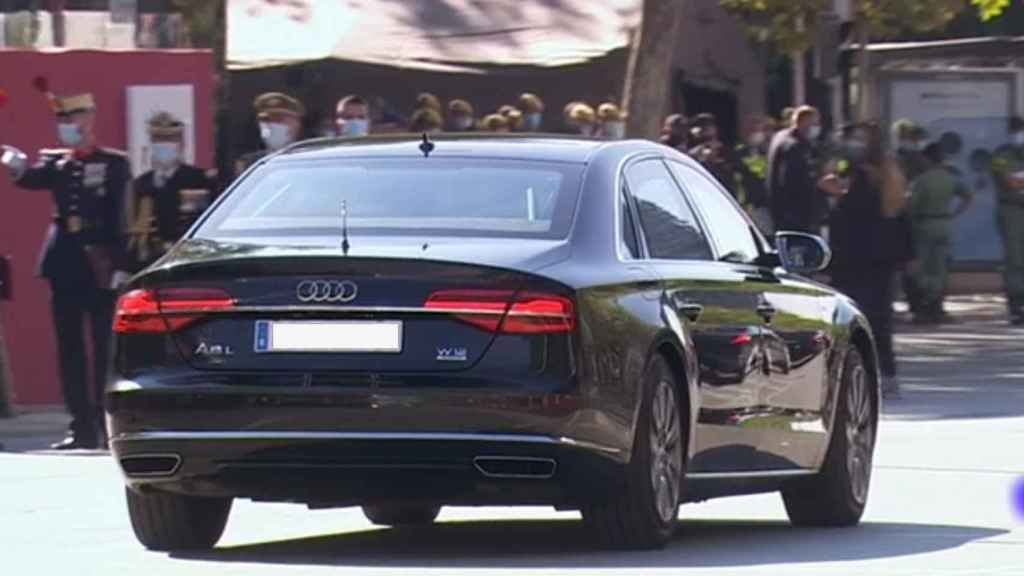 El Audi A8 del presidente del Gobierno Pedro Sánchez.