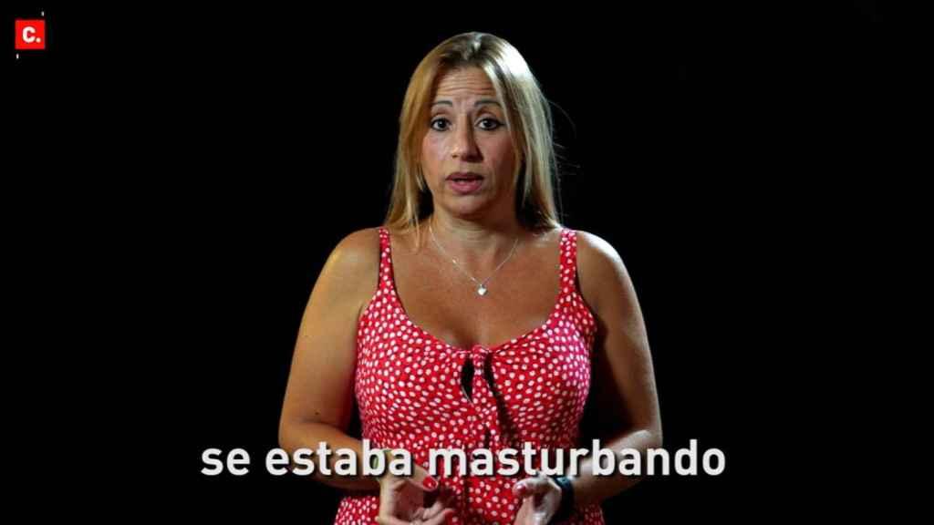 Una de las denunciantes en el vídeo de Change.org.