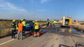 Una imagen del lugar del siniestro poco después de ocurrir el accidente mortal. Foto: CPEIS Toledo.