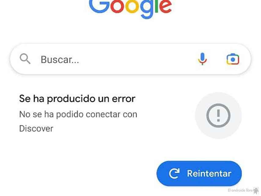 Google Discover no funciona