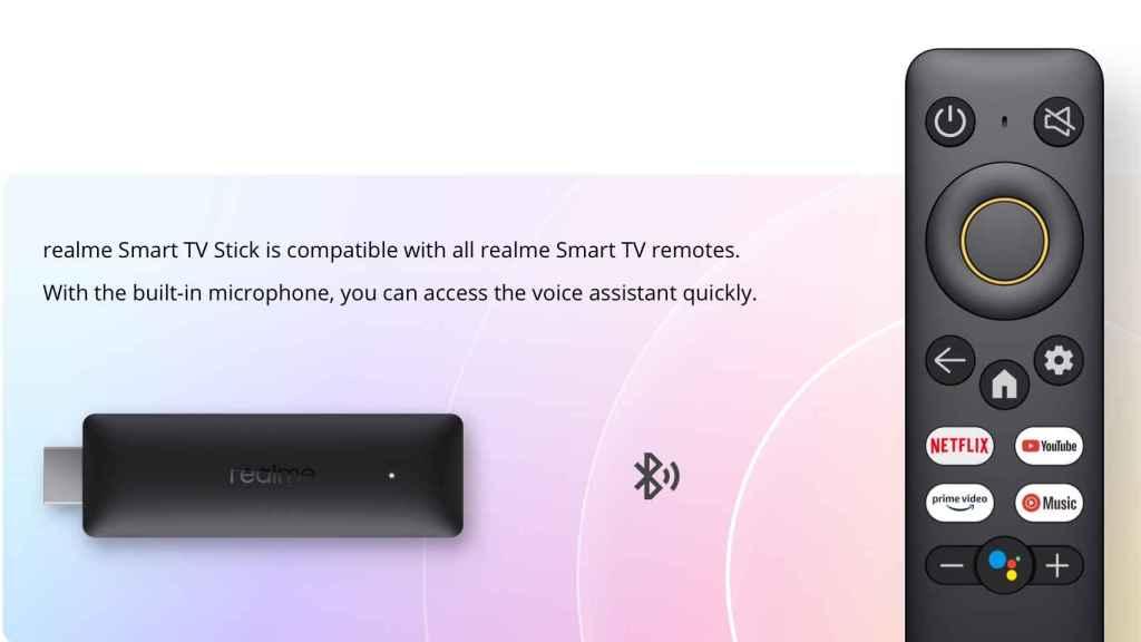 Mando del Realme Google TV Stick 4K