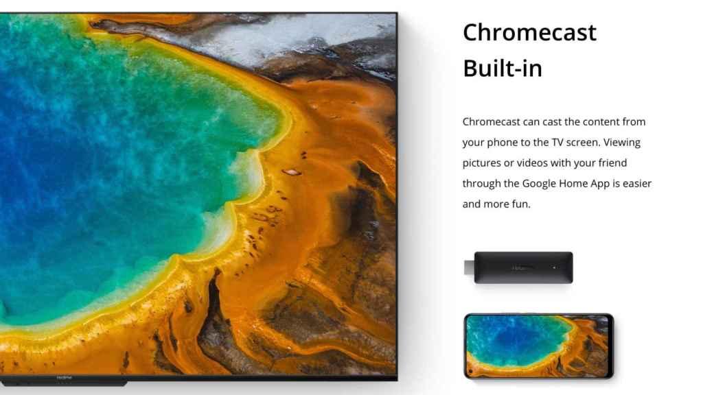 Chromecast integrado en el Realme Google TV Stick 4K