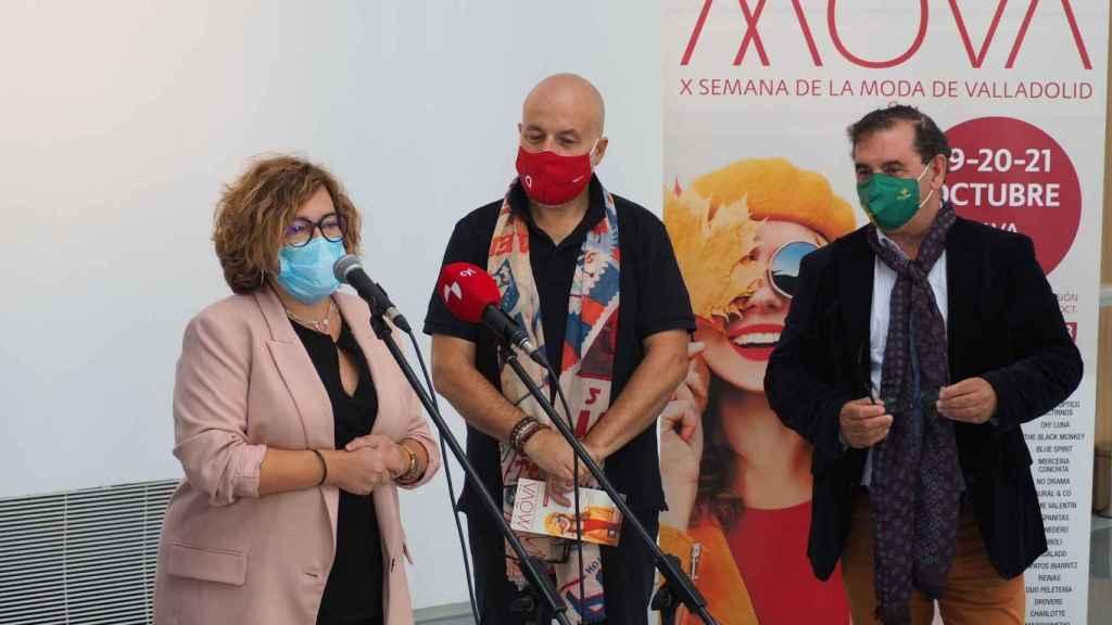 Charo Chávez durante la presentación de una nueva edición de  MOVA