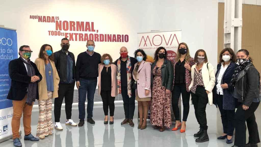 Foto de familia tras la presentación de la X Semana de la Moda de Valladolid