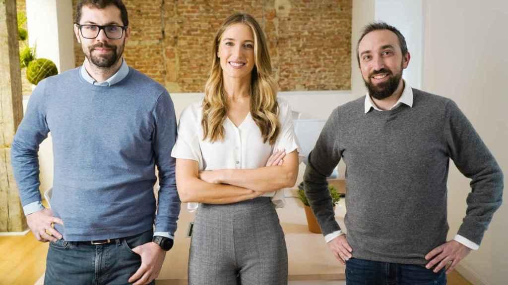 (De izquierda a derecha): Juan Romero, Andrea Barber y Miguel Ángel Torrero son los fundadores de RatedPower.