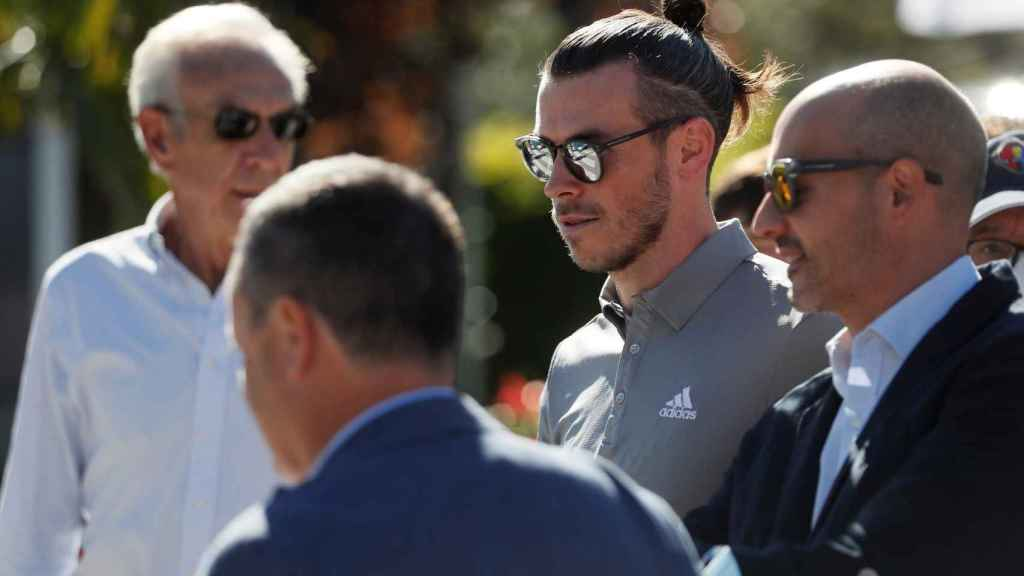 Gareth Bale, en el Open de España de golf