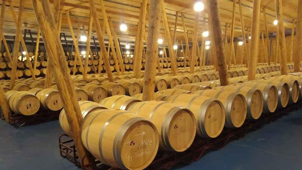 La bodega cuenta con 10.000 barricas de roble en sus instalaciones.