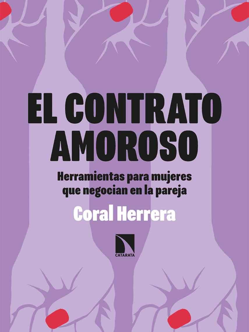 Portada de 'El contrato amoroso', el nuevo libro de Coral Herrera.