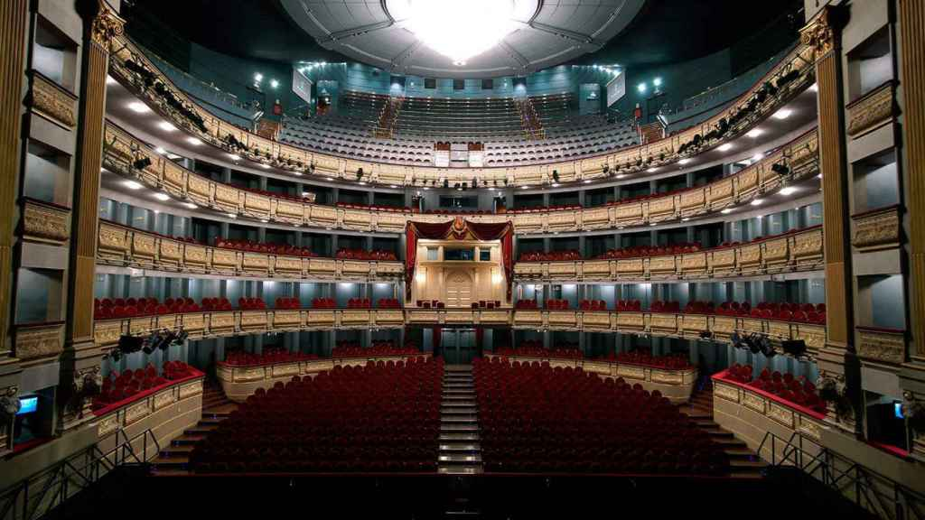 Interior del Teatro Real.