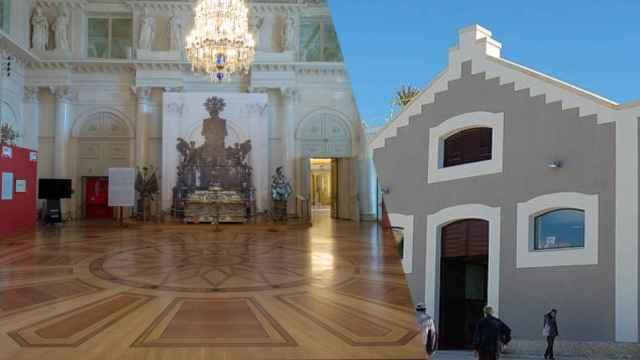Los lujosos y grandes espacios del Hermitage tendrían que encontrar un espacio en Alicante.