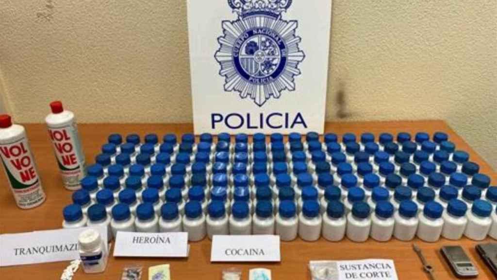 Droga incautada. - POLICIA NACIONAL DE PALENCIA