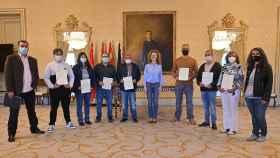 Entrega de los diplomas en el Ayuntamiento de Salamanca