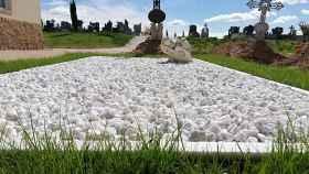 Rincón Blanco en el cementerio de Zamora