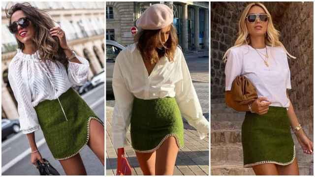 'Influencers' con diferentes propuestas de la falda de Zara.