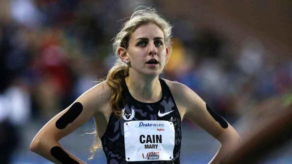 Mary Cain durante una prueba