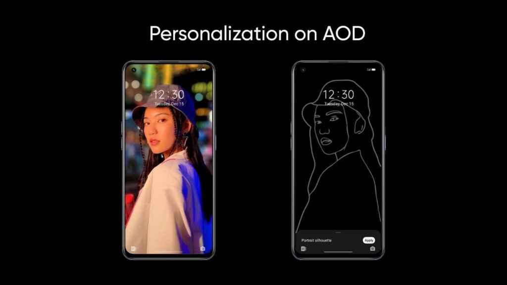 AOD en Realme UI 3