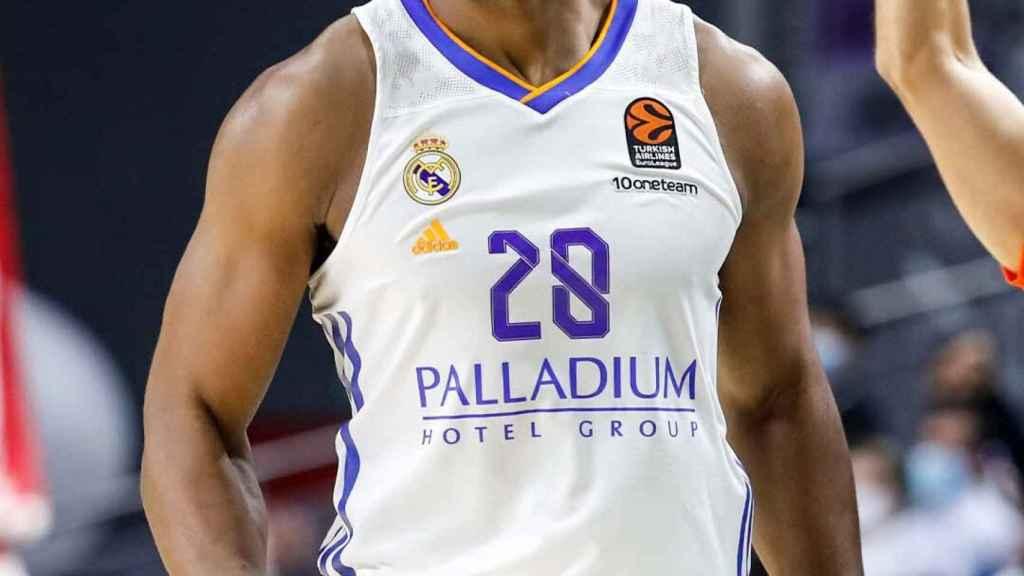 Yabusele, en un partido del Real Madrid de Baloncesto de la Euroliga