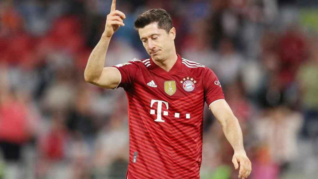Robert Lewandowski, durante un partido con el Bayern Múnich