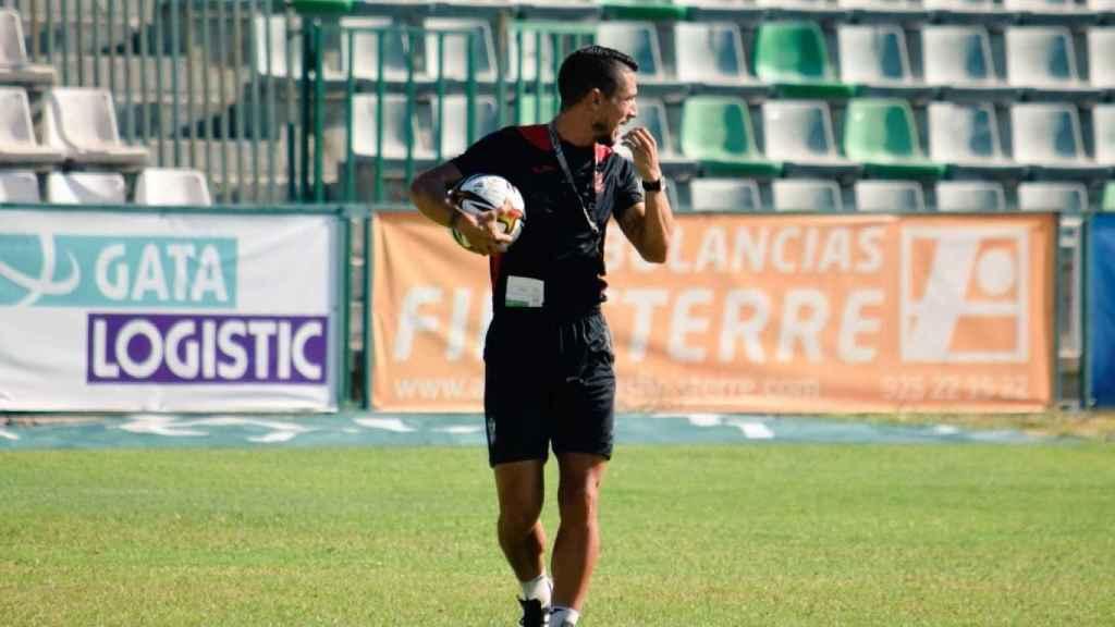Diego Merino en un entrenamiento. Foto: Laura Pérez (CD Toledo)