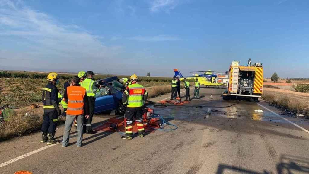 El lugar donde este martes ocurrió el tráfico accidente. Foto: CPEIS Toledo.
