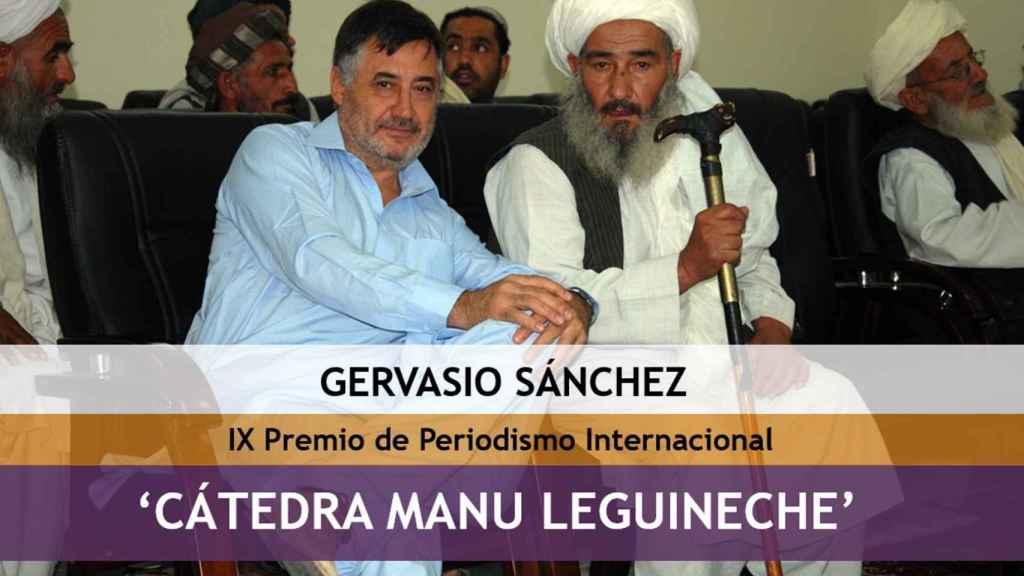 El periodista Gervasio Sánchez, premiado con la 'Cátedra Manu Leguineche'