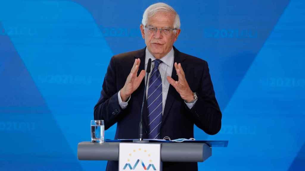 Josep Borrell, durante una rueda de prensa