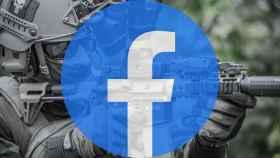 Facebook con una persona armada.
