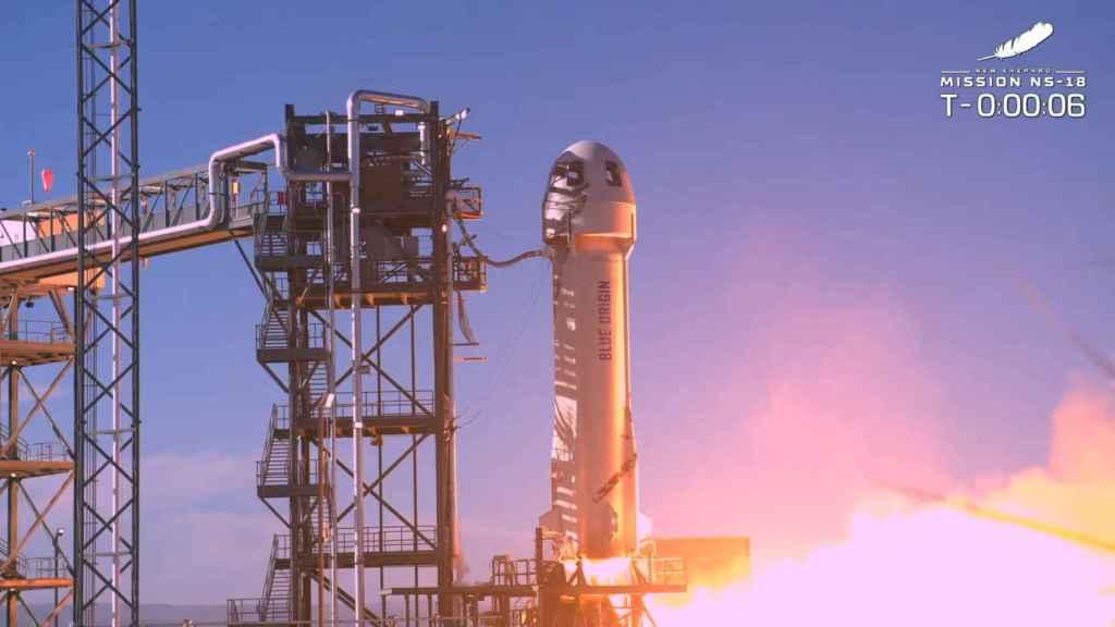 Lanzamiento de la segunda misión tripulada de Blue Origin