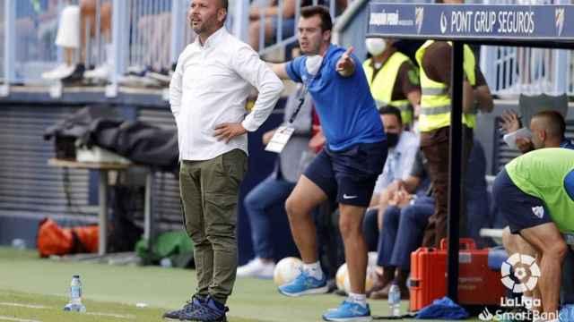 José Alberto López cumple 100 días en el banquillo del Málaga CF