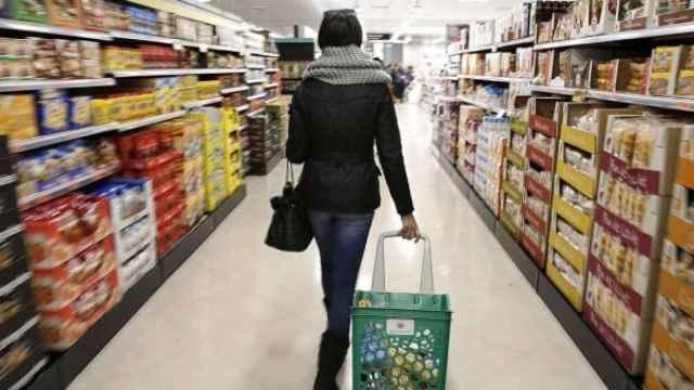 Interior de un supermercado, en imagen de archivo.
