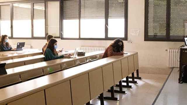 Una clase de la Universidad de Salamanca