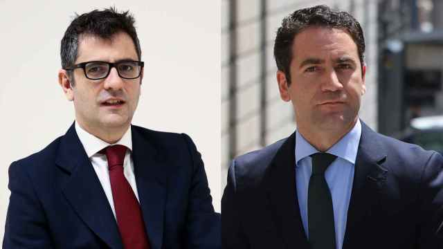 Félix Bolaños, ministro de la Presidencia; y Teodoro García Egea, secretario general del PP.