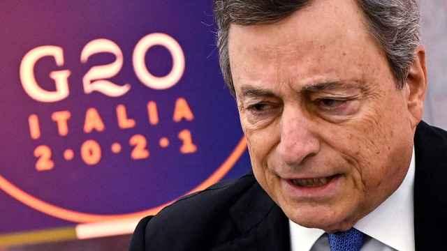 Mario Draghi, primer ministro italiano.