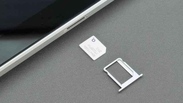 Una tarjeta SIM de un teléfono.