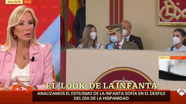Carmen Lomana, muy criticada en redes por decir que la infanta Sofía tiene las piernas gordas