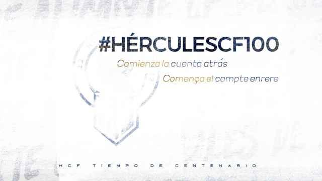 El Hércules lanza ya la imagen oficial con la que arranca su centenario, cuya comisión preside Manuel Palomar.