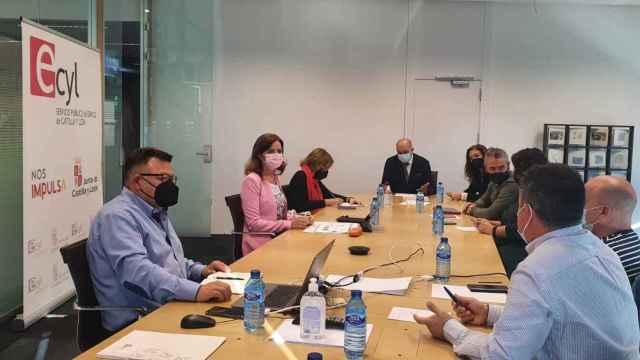 Imagen de la reunión mantenida esta mañana