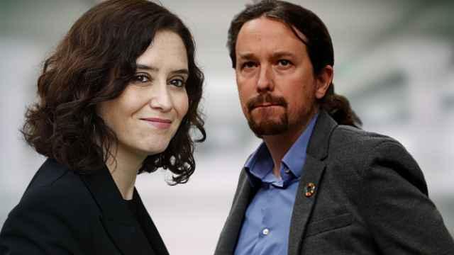 Isabel Díaz Ayuso y Pablo Iglesias en un montaje de JALEOS.