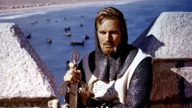Charlton Heston como 'El Cid'.